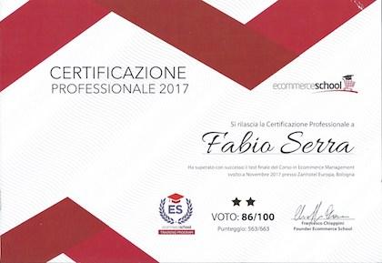 Certificazione 1° Livello Ecommerce School